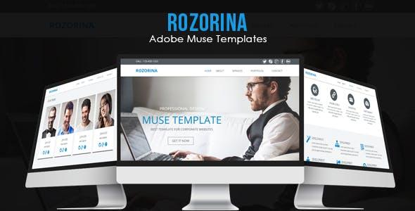 Download Rozorina Adobe Muse Template