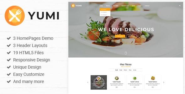 Yumi | Restaurant PSD Template - Restaurants & Cafes Entertainment