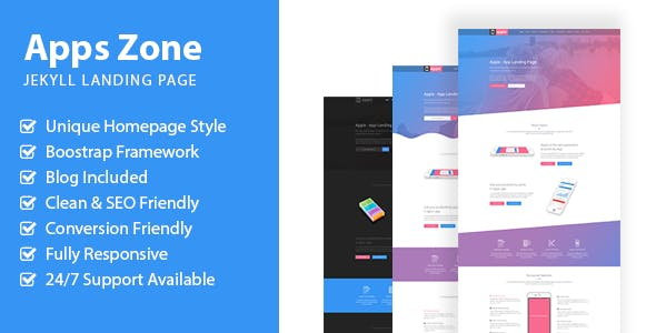 AppsZone - Jekyll Multipurpose App Landing Page