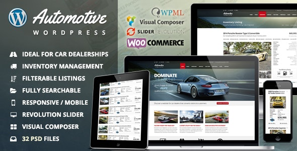 Automotive Car Dealership Business WordPress Theme - Business Corporate