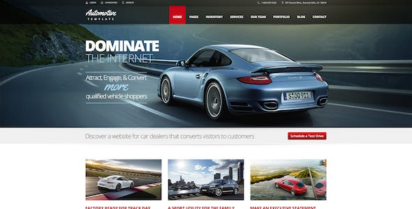 Automotive Html Website Templates From Themeforest