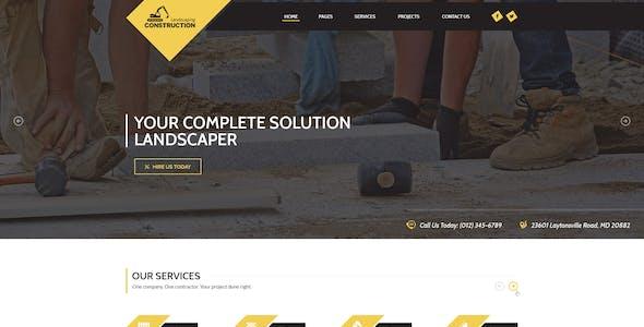 Landscaping - Lawn & Garden, Landscape Construction, & Snow Removal WordPress Theme