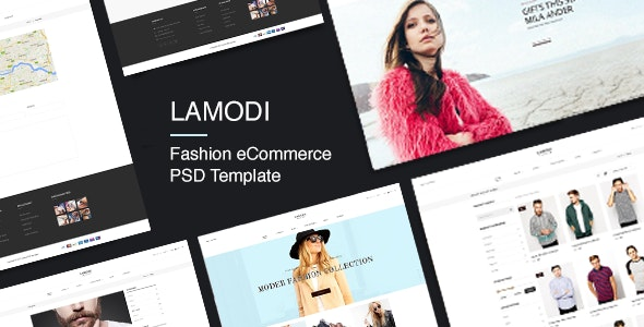 LAMODI - Minimal eCommerce PSD Template - Fashion Retail
