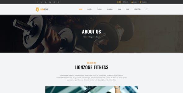 Lionzone | Gym & Fitness PSD Template