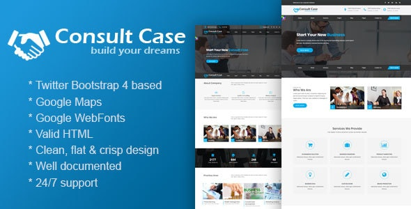 Consult Case - A Consultancy Service & Consulting Business Template - Business Corporate