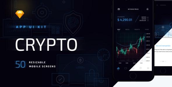 Crypto Mobile UI Kit - Corporate Sketch