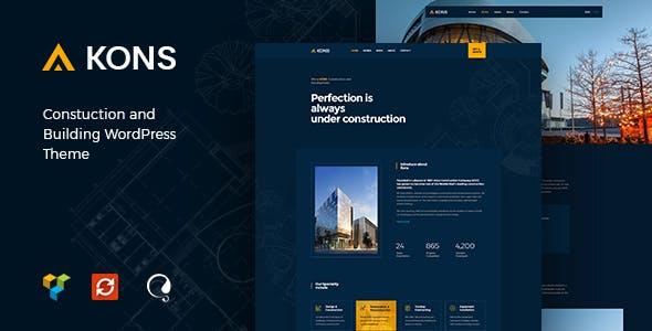 Kons - Construction and Building WordPress Theme