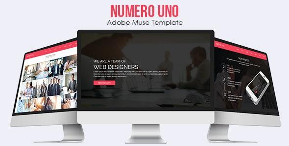 Numero Uno - Adobe Muse Template - Corporate Muse Templates