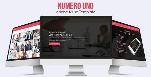 Numero Uno - Adobe Muse Template