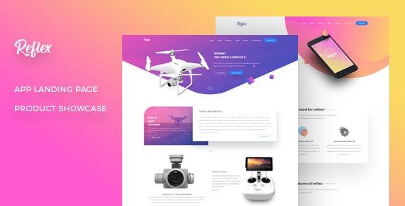 Reflex - App Landing Page & Product Showcase - Marketing Corporate