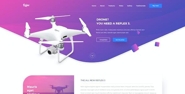Reflex - App Landing Page & Product Showcase