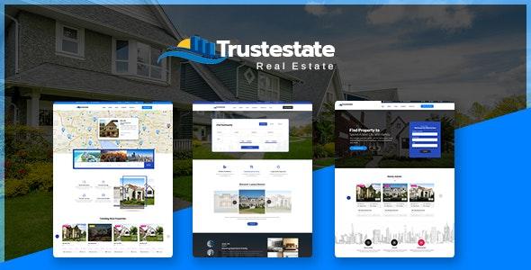 Trustestate - Real Estate PSD Template - Business Corporate