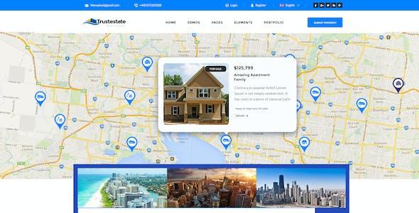 Trustestate - Real Estate PSD Template