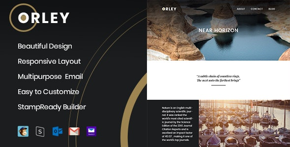 Orley - Responsive Email Template + StampReady Builder - Newsletters Email Templates