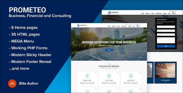 Prometeo - Business and Financial Site Template