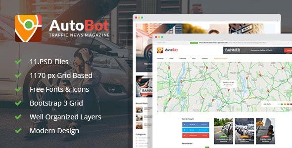 AutoBot - Traffic News Magazine PSD Template - Miscellaneous Photoshop