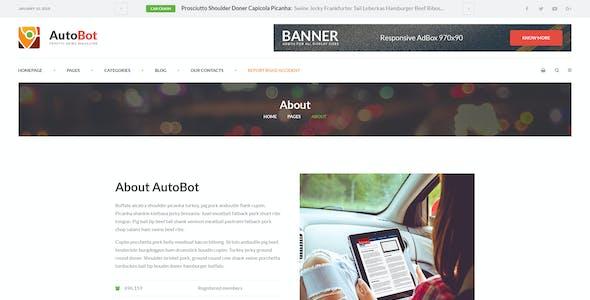 AutoBot - Traffic News Magazine PSD Template