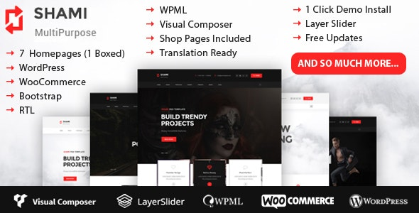 SHAMI Multipurpose WordPress Theme RTL - Creative WordPress
