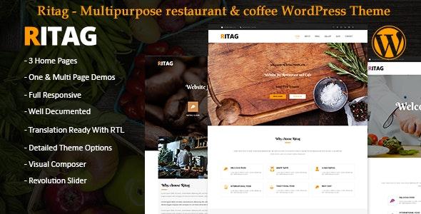 Food restaurant coffee pizza cafe WordPress Theme rtl - Restaurants & Cafes Entertainment