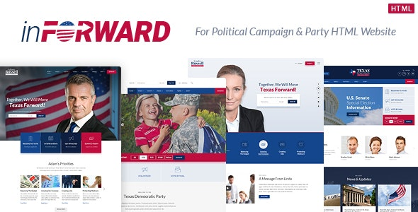 inForward - Political Campaign, Party, Nonprofit HTML Template - Political Nonprofit