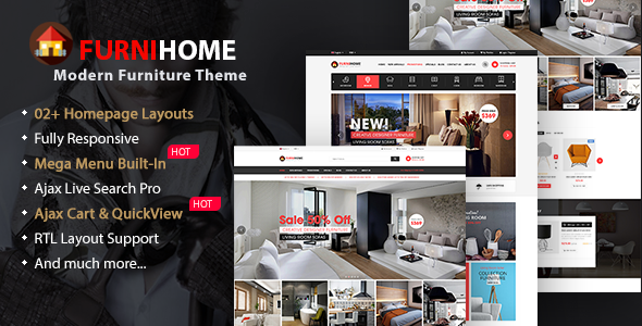 FurniHome - Furniture Shop WordPress WooCommerce Theme - eCommerce WordPress