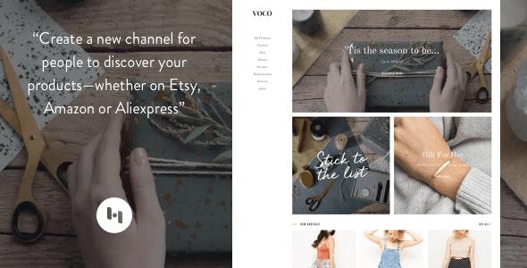 VOCO: Product showcasing theme for merchant - Blogger Blogging