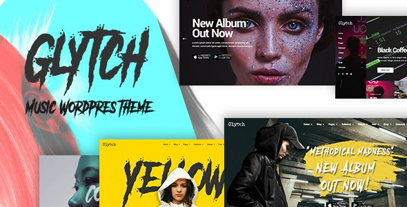 Glytch - A Vibrant Music Theme - Music and Bands Entertainment