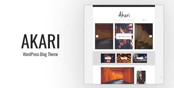 Akari - Elegant WordPress Blog Theme - Blog / Magazine WordPress