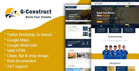 Arc Construct - Construction & Business Template - Business Corporate
