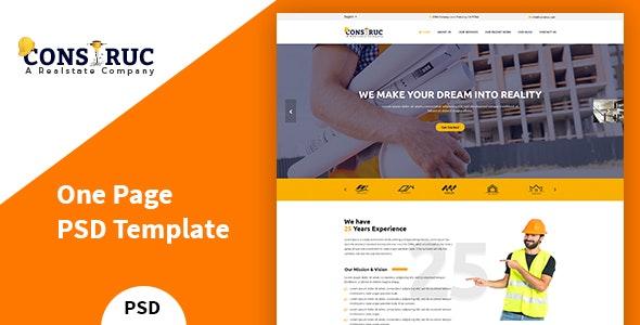 Construc – Construction PSD Template - Business Corporate