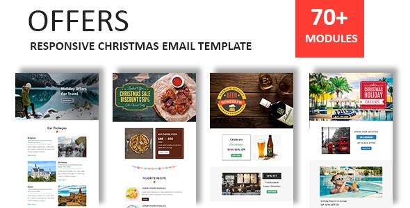 Offers - Responsive Christmas Email Newsletter Template with Stampready Builder Access - Newsletters Email Templates