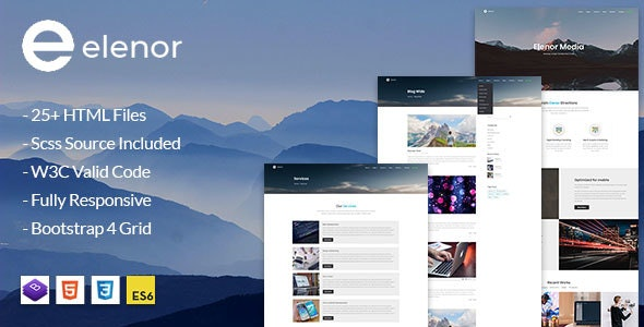 Elenor - Creative  Agency, Corporate and Portfolio Multi-purpose HTML Template - Portfolio Creative