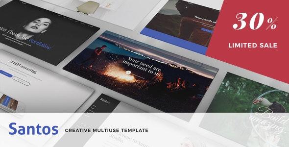 Santos - Modern Multi-Purpose Template - Creative Site Templates