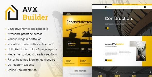 AVXBuilder - Construction Business WordPress Theme - Business Corporate