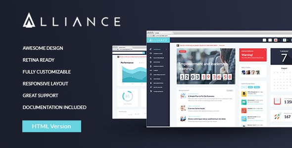 Alliance | Intranet & Extranet HTML Template - Admin Templates Site Templates