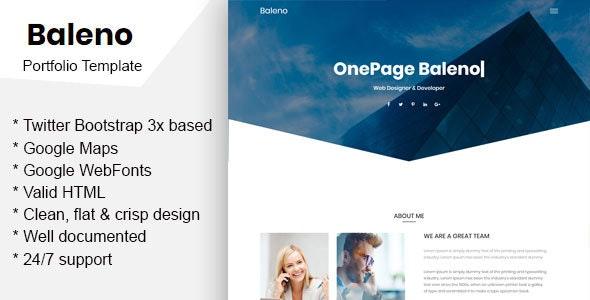 Baleno – One Page Portfolio Template - Portfolio Creative