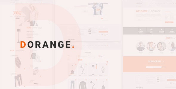 DORANGE Multi Purpose Ecommerce PSD Template - Shopping Retail