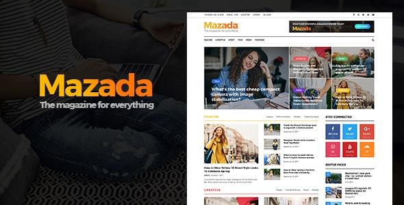 Mazada - News & Magazine WordPress Theme - News / Editorial Blog / Magazine