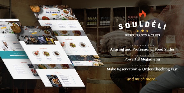 Souldeli - Exquisite Restaurant & Cafe WordPress Theme - Restaurants & Cafes Entertainment