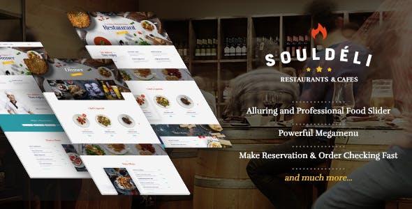 Souldeli - Restaurant & Cafe WordPress Theme