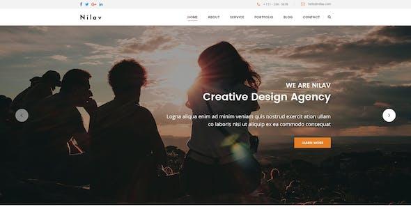 Nilav - Single Page Creative Agency PSD Template