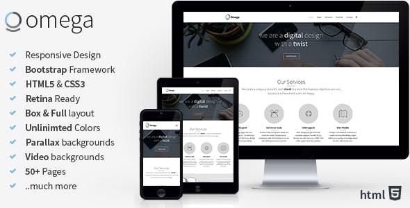 Omega - Multi Purpose Bootstrap HTML Template