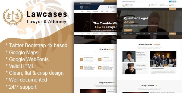 LawCases - Lawyer & Attorney Business HTML5 Template - Business Corporate