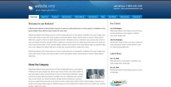 Website Corp Drupal 6 Theme - Drupal CMS Themes