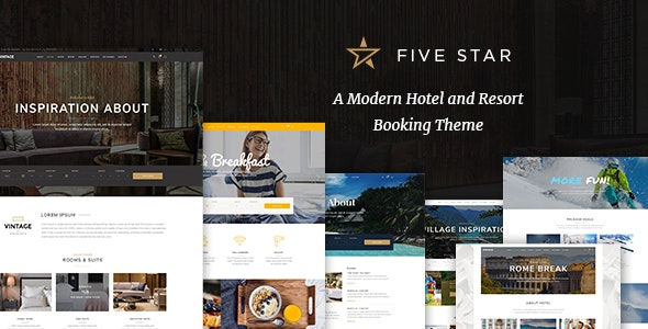 FiveStar - Hotel Booking Theme - Travel Retail