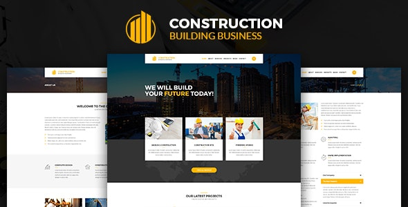 Construction – Construction Building Business HTML Template - Corporate Site Templates