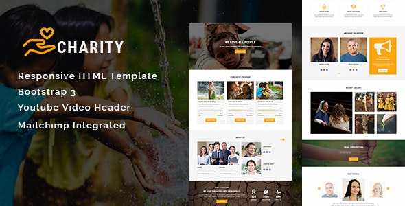 Charity - Multipurpose Responsive HTML Landing Page - Nonprofit Landing Pages