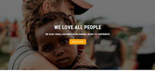 Charity - Multipurpose Responsive HTML Landing Page