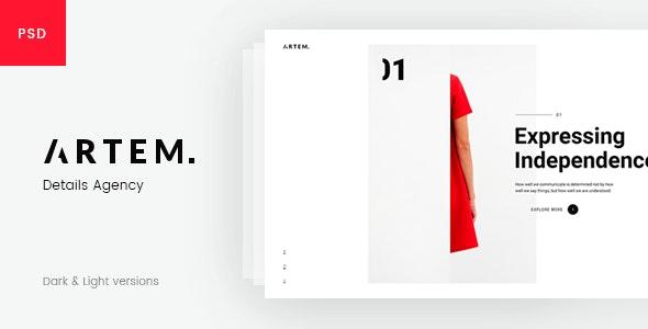 ARTEM – Digital Agency PSD Template - Portfolio Creative