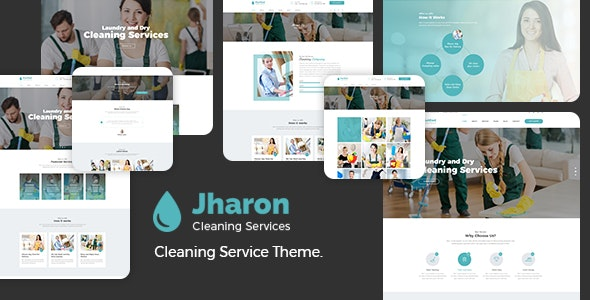 Jharon - Cleaning Service WordPress Theme + RTL - Business Corporate